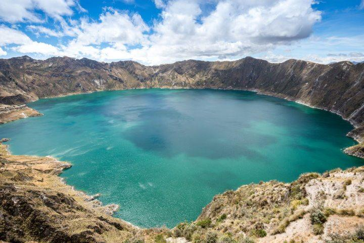 Quilotoa Crater Lake, Avenue of the Volcanoes, Ecuador
