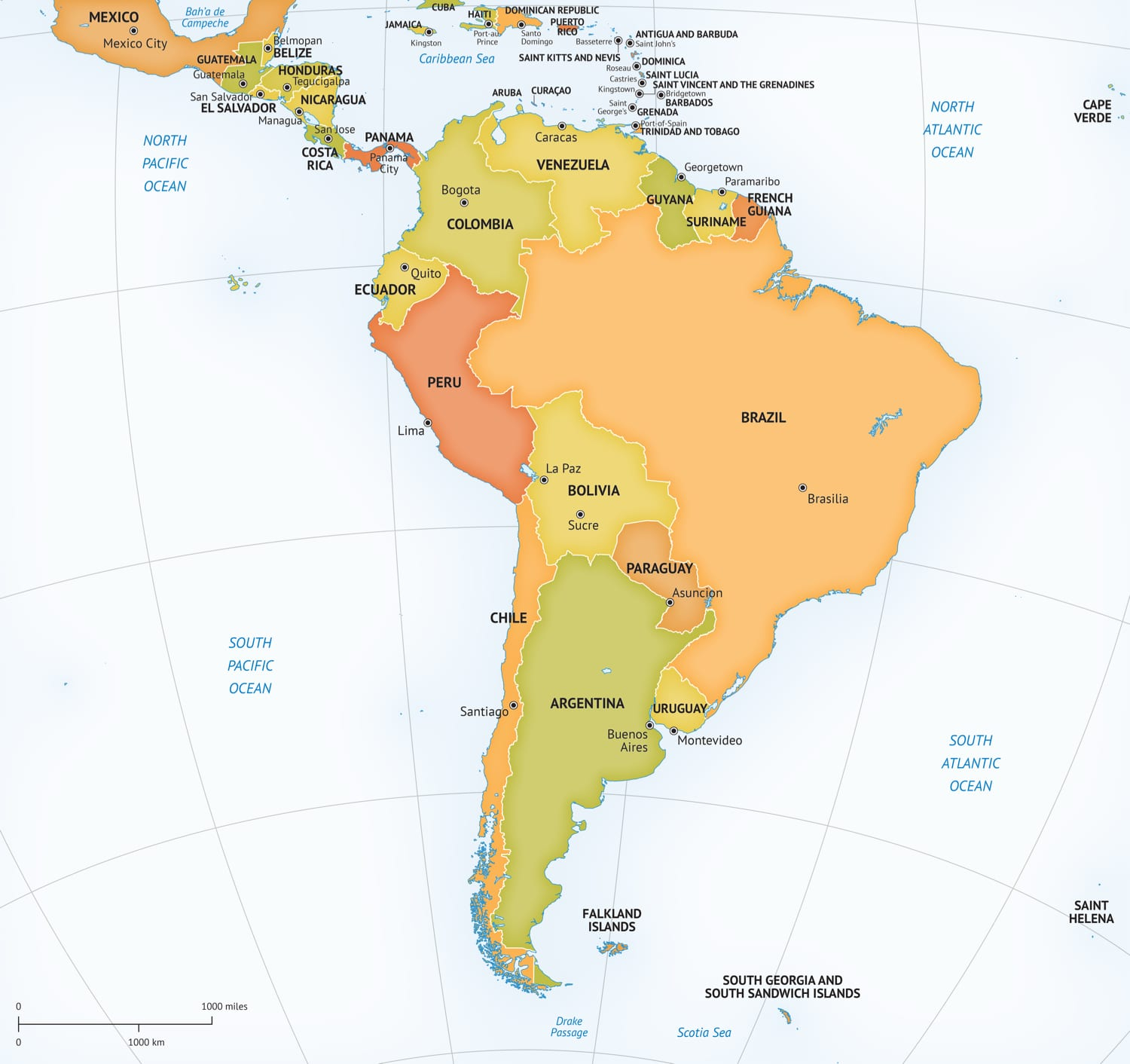 It is a picture of Simplicity Printable South American Map