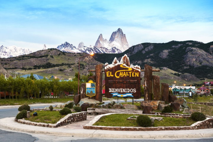 Welcome Sign, El Chaltén, Argentina