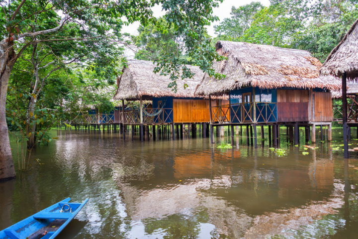 Stilt Houses Near Iquitos, Peru
