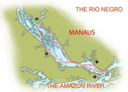 Itinerary Map - Into the Wild Amazon