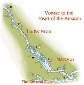 Itinerary Map - Voyage to the Heart of the Amazon