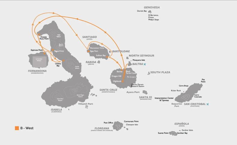Coral I & II B Itinerary