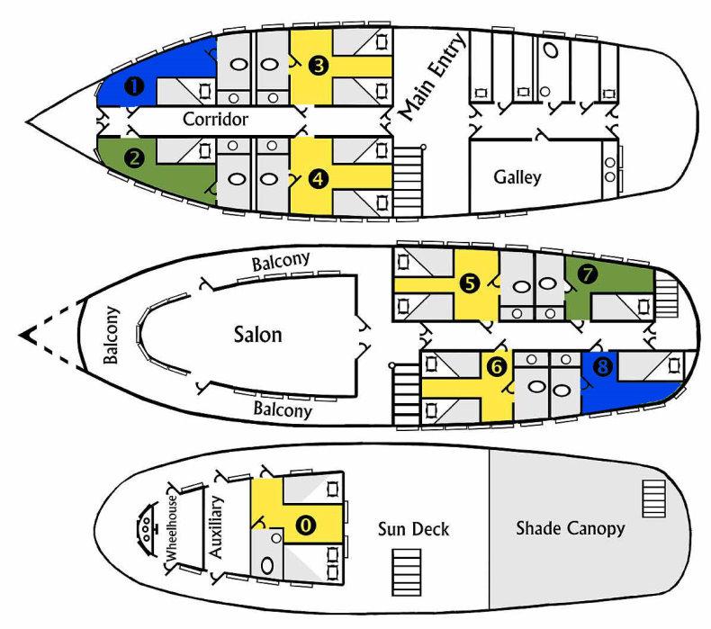 Tucano Deck Plan